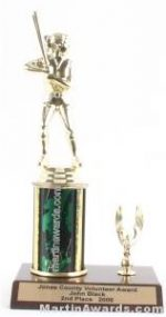 Green Single Column Female Softball With 1 Eagle Trophy