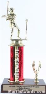 Red Single Column Male T-Ball With 1 Eagle Trophy 1