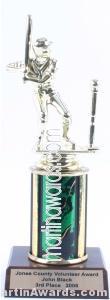 Green Single Column Male T-Ball Trophy 1