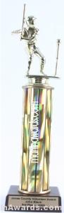 Gold Single Column Male T-Ball Trophy
