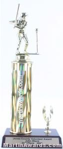 Gold Single Column Female T-Ball With 1 Eagle Trophy 1
