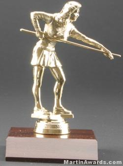 Female Billiards/Pool Trophy 1