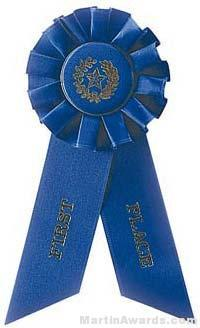 "Rosette, 8.5"", First Place Ribbons"