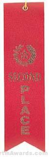 Small Ribbon, Second Place Ribbons