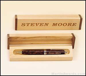 Pen Set with Maple/Walnut Box