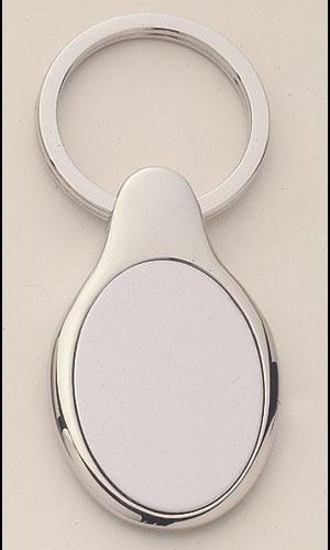 Oval Shape Silver Key Rings 1