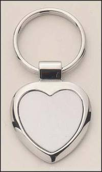 Heart Shape Silver Key Rings