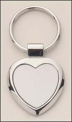 Heart Shape Silver Key Rings 1