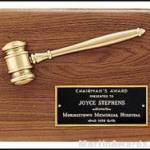 Plaque – Gavel Plaques with Antique Bronze Gavel 1