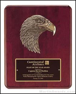 Plaque – Piano-Finish Plaques with Sculptured Antique Bronze Eagle 1