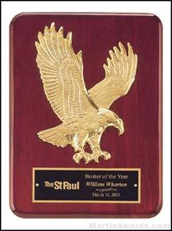 Plaque – Piano-Finish Plaques with Sculptured Relief Gold Eagle 1