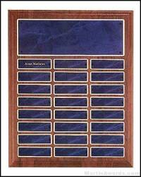 Plaque - Walnut Perpetual Plaques with Sapphire Marble Finish
