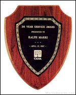 Plaque - American Walnut Plaque Shield Shape
