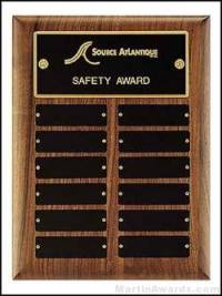 Plaque - Perpetual Award with Black Brass Plates