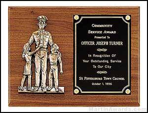 Plaque - Police Award