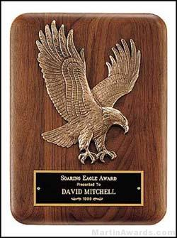 Plaque – Walnut Plaque with Sculptured Relief Eagle Casting Plaques 1