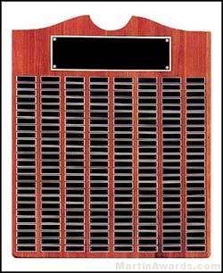 Plaque – Perpetual Plaque w/Black Brass Awards Achievement Recognition 1