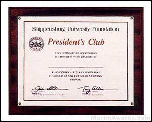 Plaque - Photo or Certificate Plaques