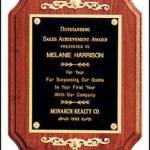 Plaque – Solid Walnut Coventry Plaques w/Gold Relief Trim 1
