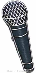 "3/4"" Microphone Lapel Pin"