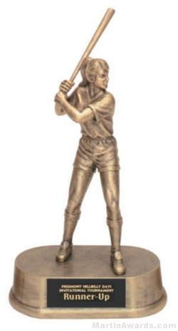 Female Softball Gold Resin Trophies 1
