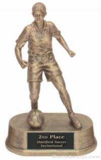 Female Soccer Gold Resin Trophy
