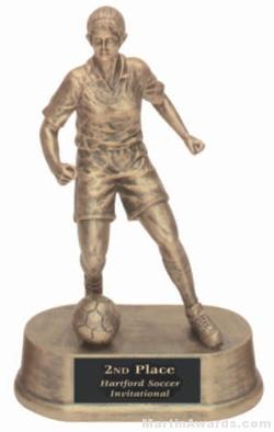 Female Soccer Gold Resin Trophy 1