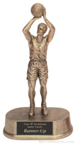 Male Basketball Gold Resin Trophy 1