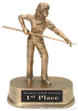 Female Pool Gold Resin Trophies