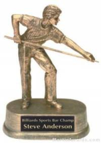 Male Pool Gold Resin Trophy