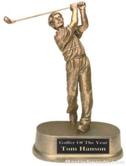 Male Golf Gold Resin Trophy 1