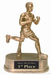 Male Track Gold Resin Trophy