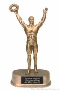 Male Victory Gold Resin Trophies