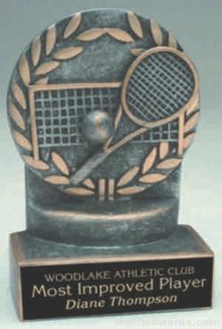 Tennis Wreath Resin Trophies 1