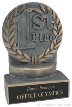 1st Place Wreath Resin Trophy 1