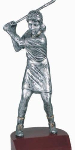 Female Golf Silver Resin Trophy 1
