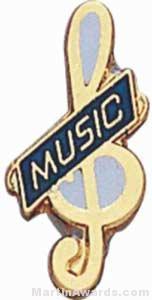 3/4″ Enameled Music Pin 1