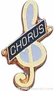 """3/4"""" Enameled Chorus Pin"""