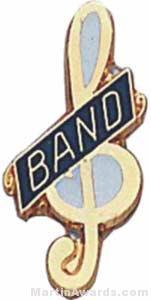 "3/4"" Enameled Band Music Pin"