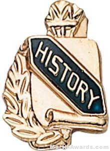 "3/8"" History School Award Pins"
