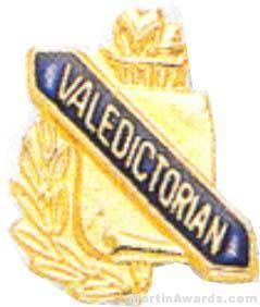 3/8″ Valedictorian School Award Pins 1