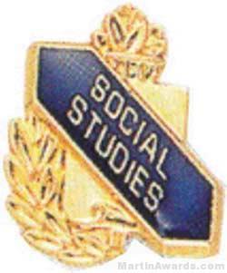 3/8″ Social Studies Academic Award Pins 1