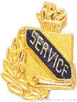 3/8″ Service School Award Pins 1