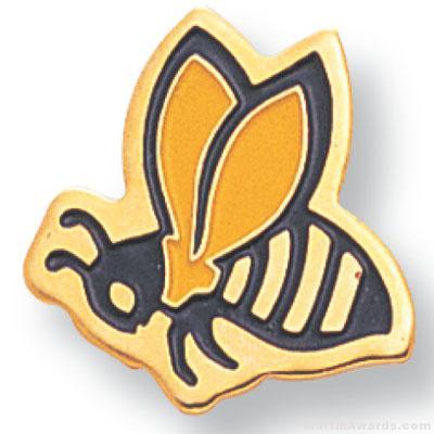 3/4″ Hornet Mascot Lapel Pin 1