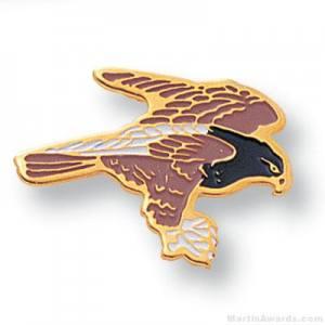 """11/16"""" Hawk Mascot Lapel Pin"""