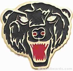 7/8″ Enameled Bear Mascot Pin 1