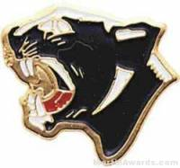"7/8"" Enameled Panther Mascot Pin"