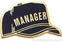 "1"" Etched Manager Chenille Letter Pin"