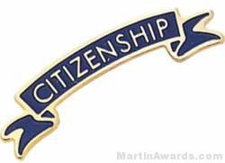 1 3/8″ Etched Soft Enamel Citizenship Chenille Letter Pin 1