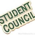 7/8″ Etched Soft Enamel Student Council Chenille Letter Pin 1
